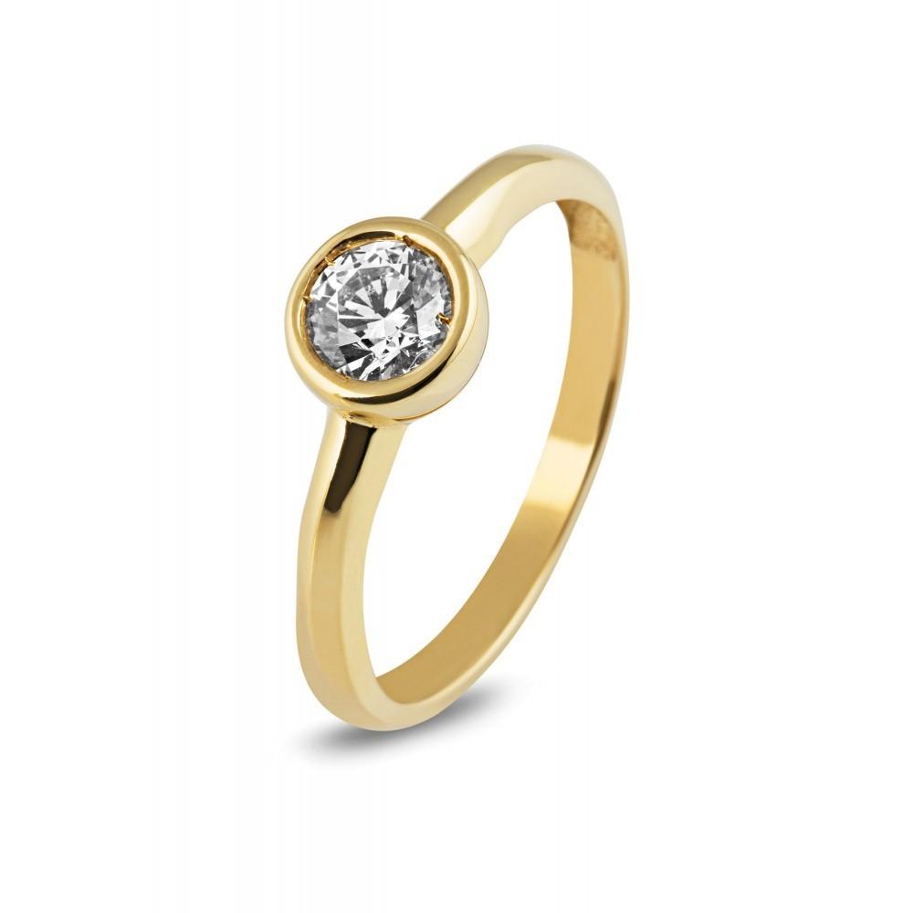 Gouden ring met zirkonia BTT6102CLR