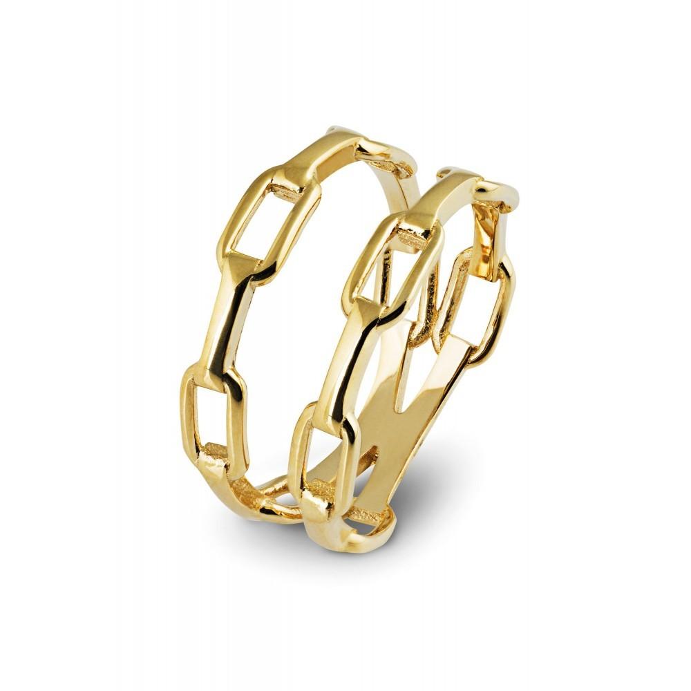 Geelgouden ring LYK33