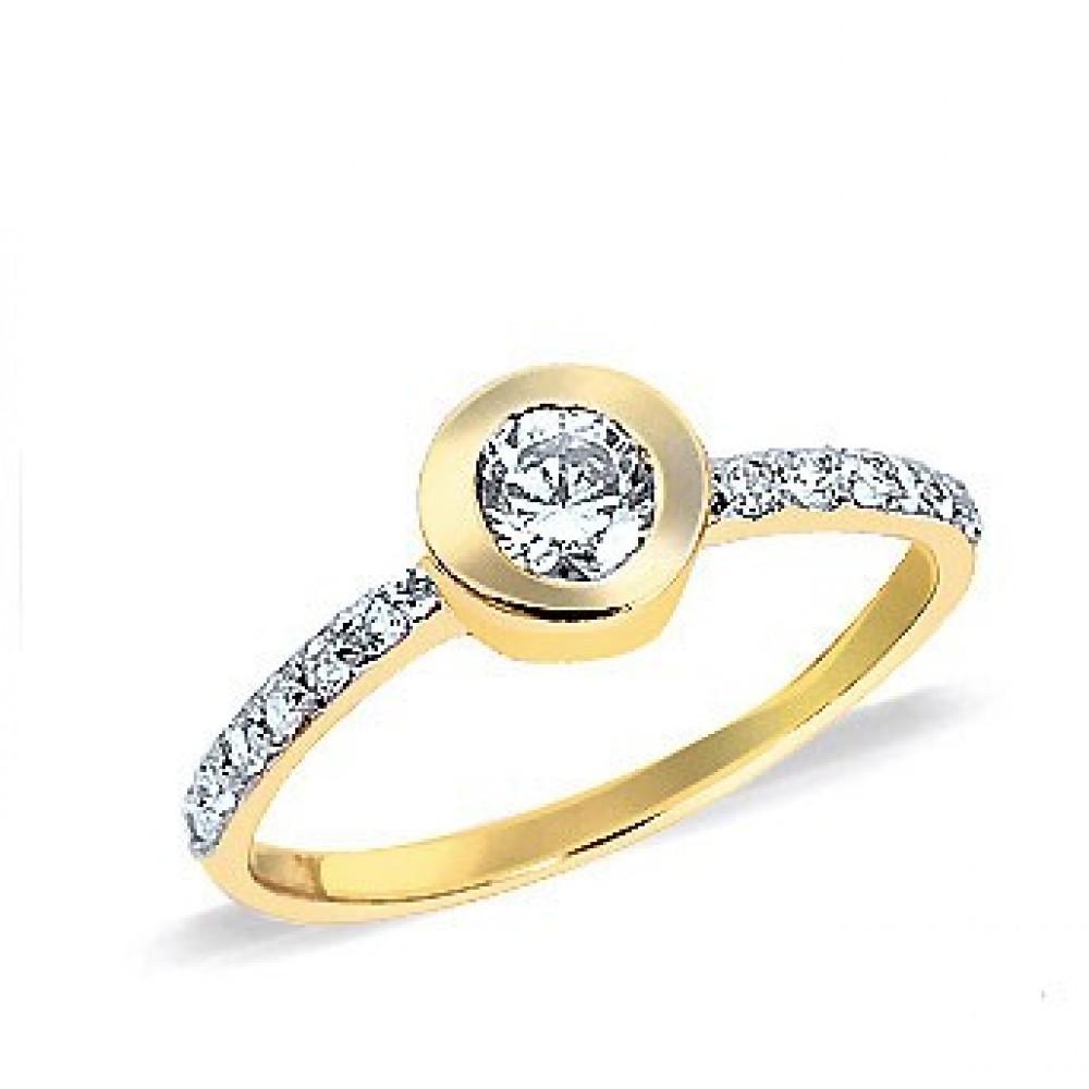 Gouden ring met zirkonia RS1802CLR