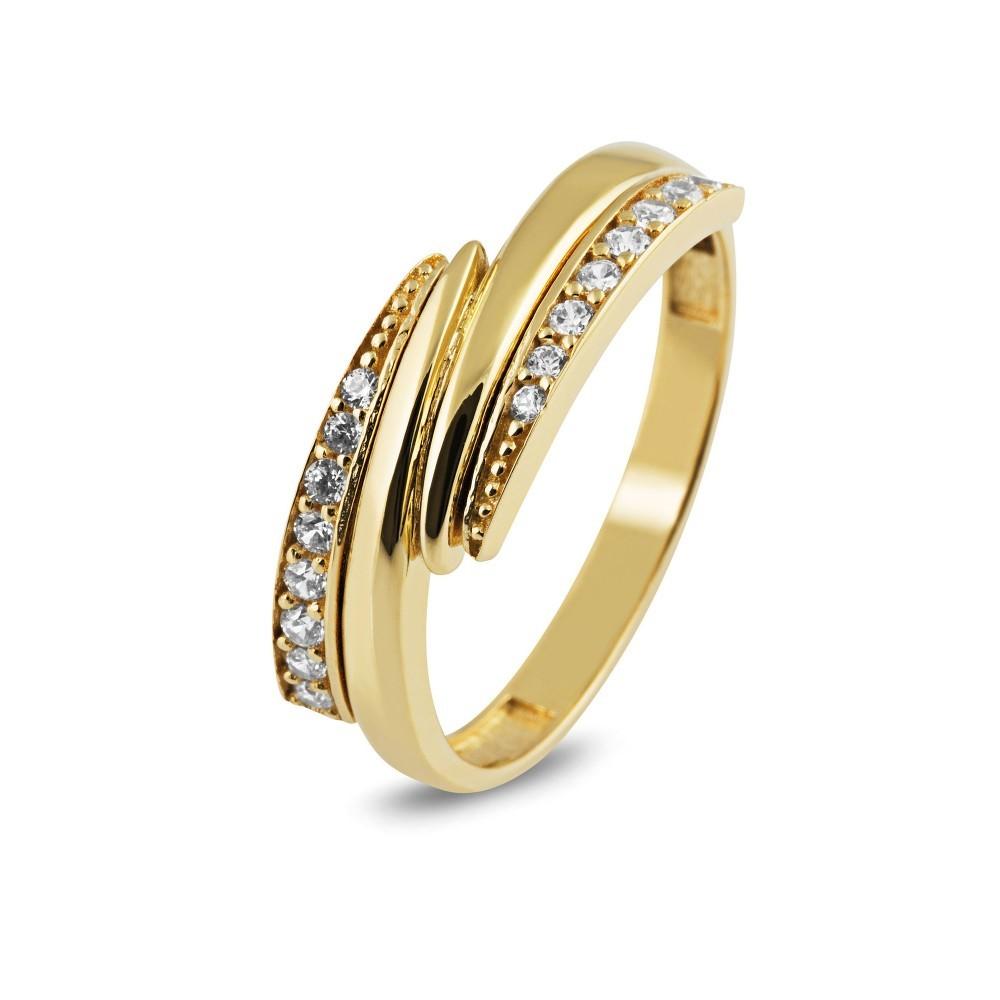 Gouden ring met zirkonia TYZ1122CLR