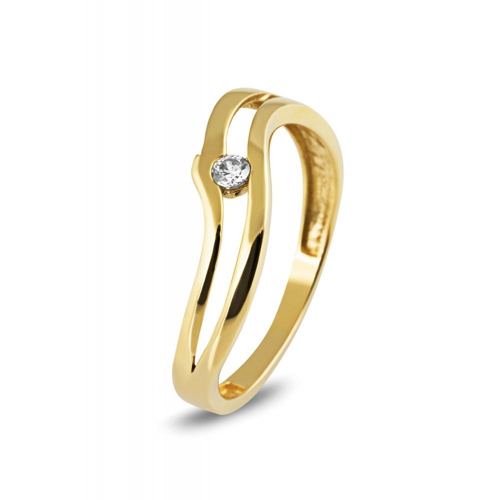 Bicolor ring met zirkonia TYZ11762CLR