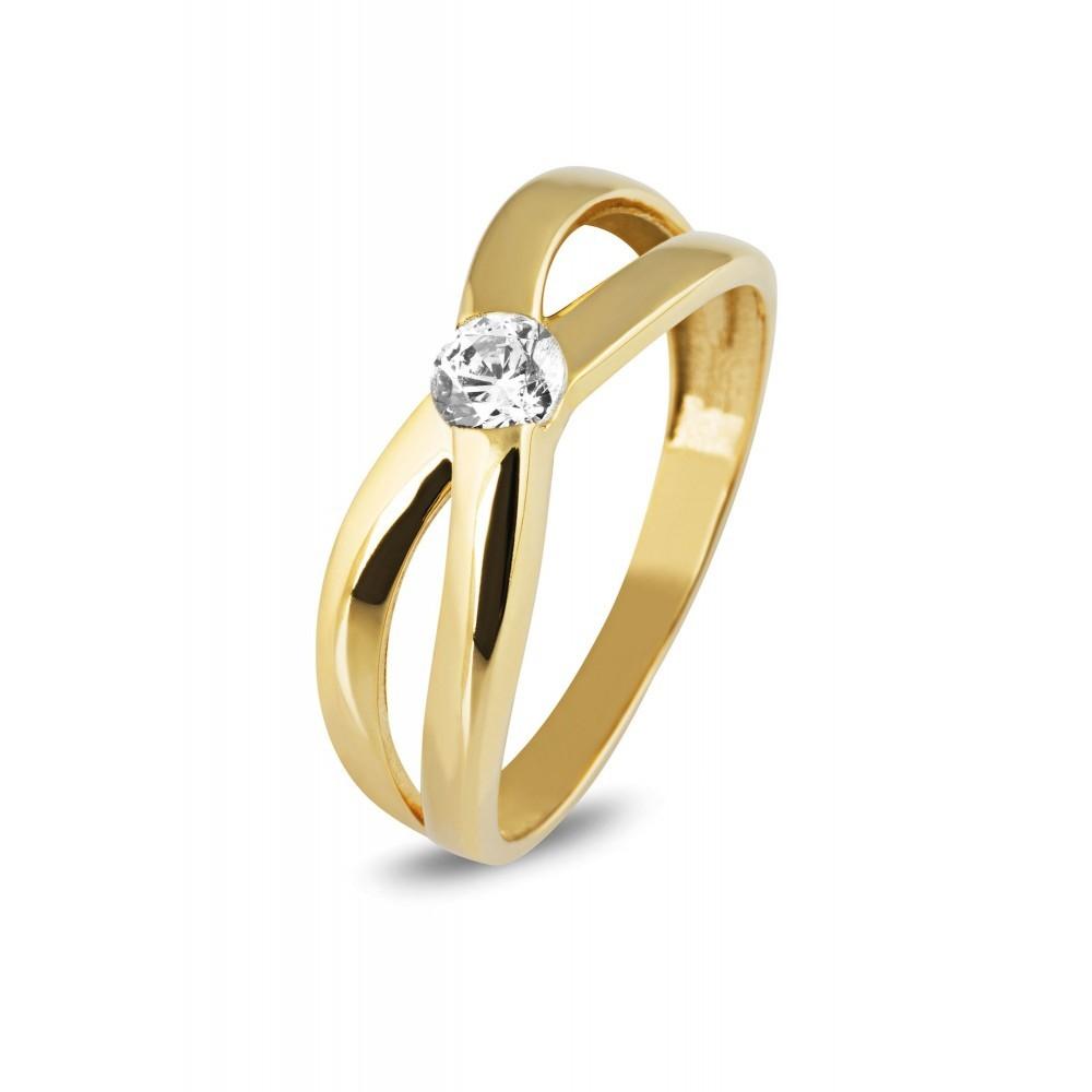 Bicolor ring met zirkonia TYZ13182CLR