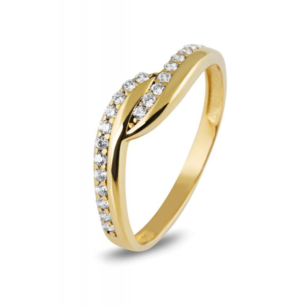 Gouden ring met zirkonia UYZ4582CLR