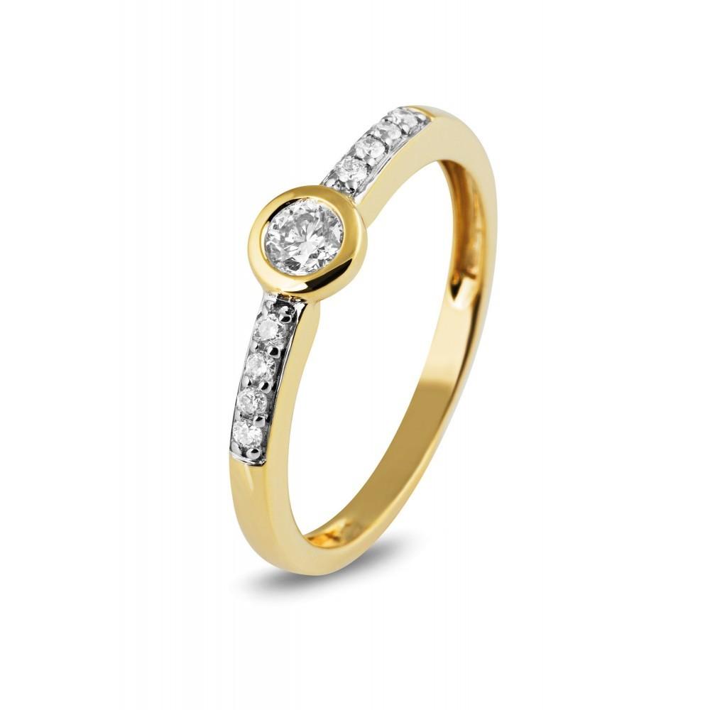 Geelgouden ring met diamant 04729RF0023