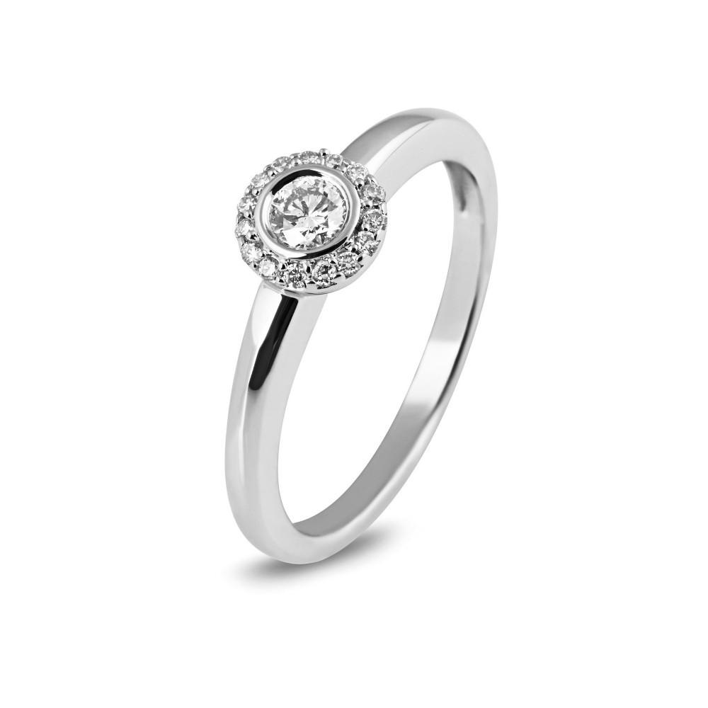 Witgouden ring met diamant 05672RF0025