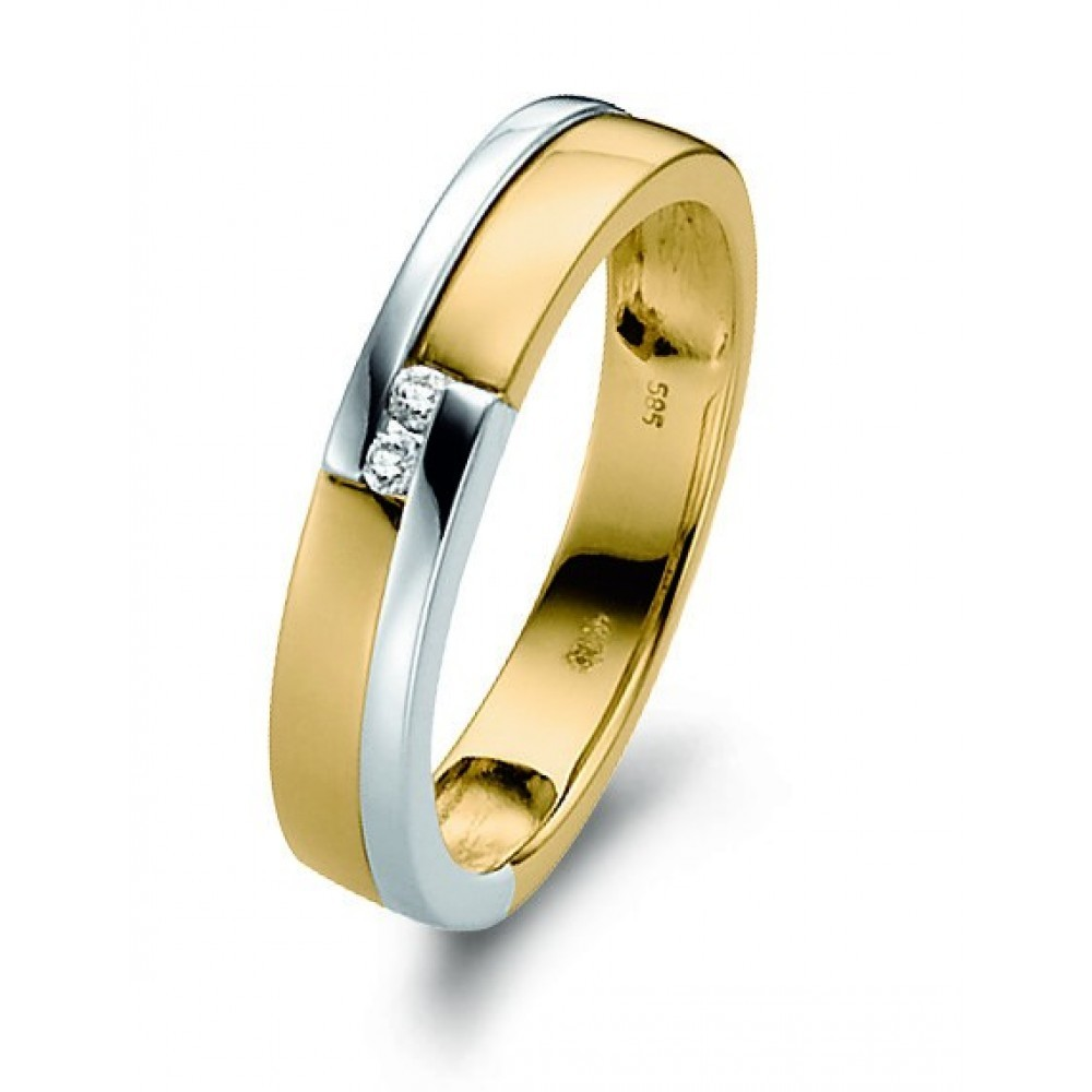 Bicolor ring 0,03crt 05879RF0003AY