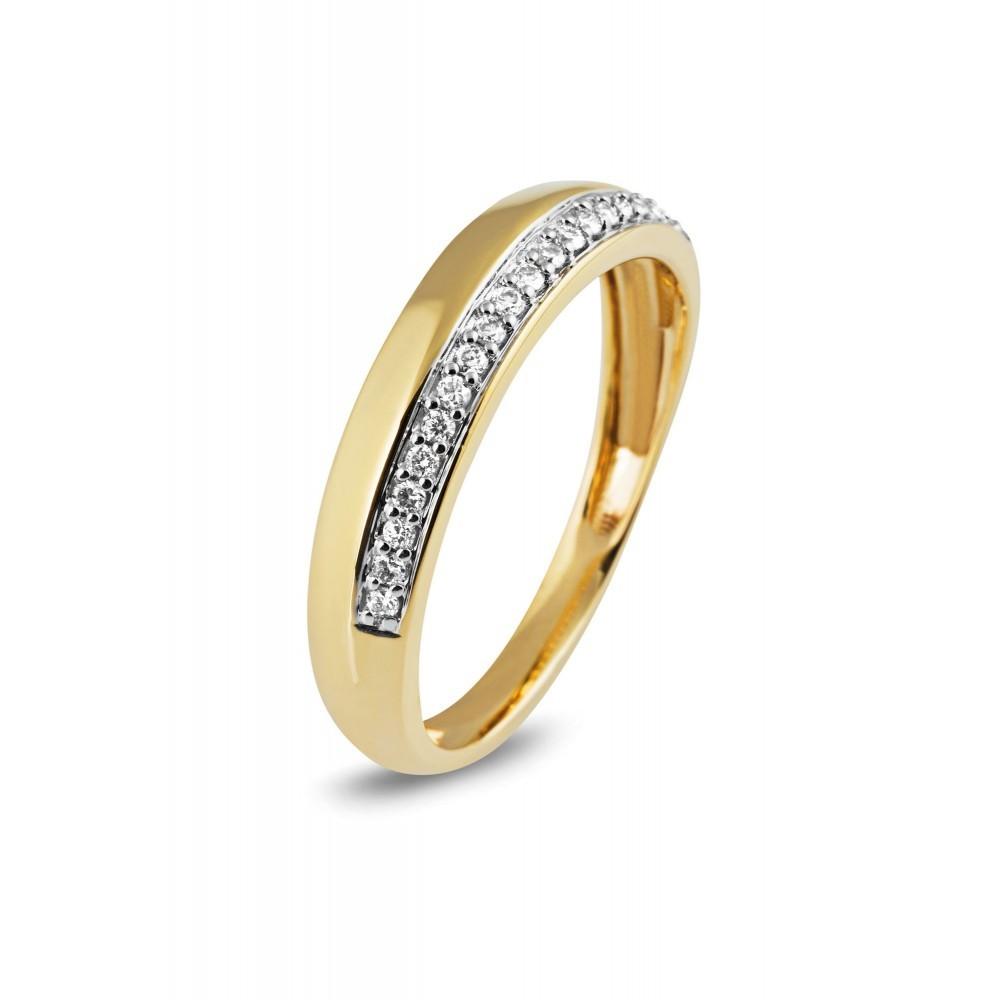 Geelgouden ring met diamant 10436RD0010