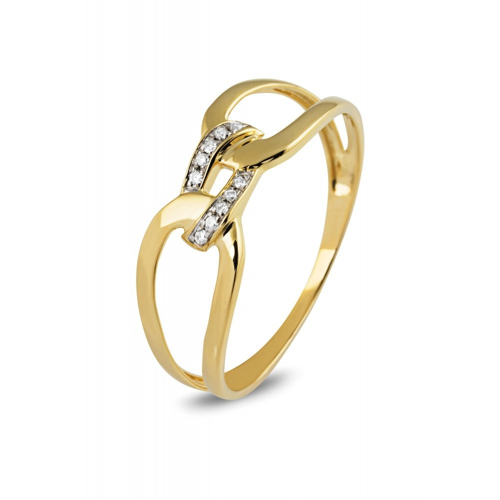 Geelgouden ring met diamant EU02279RF0003