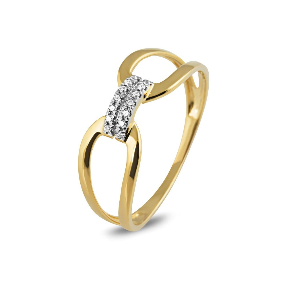 Geelgouden ring met diamant EU02280RF0005