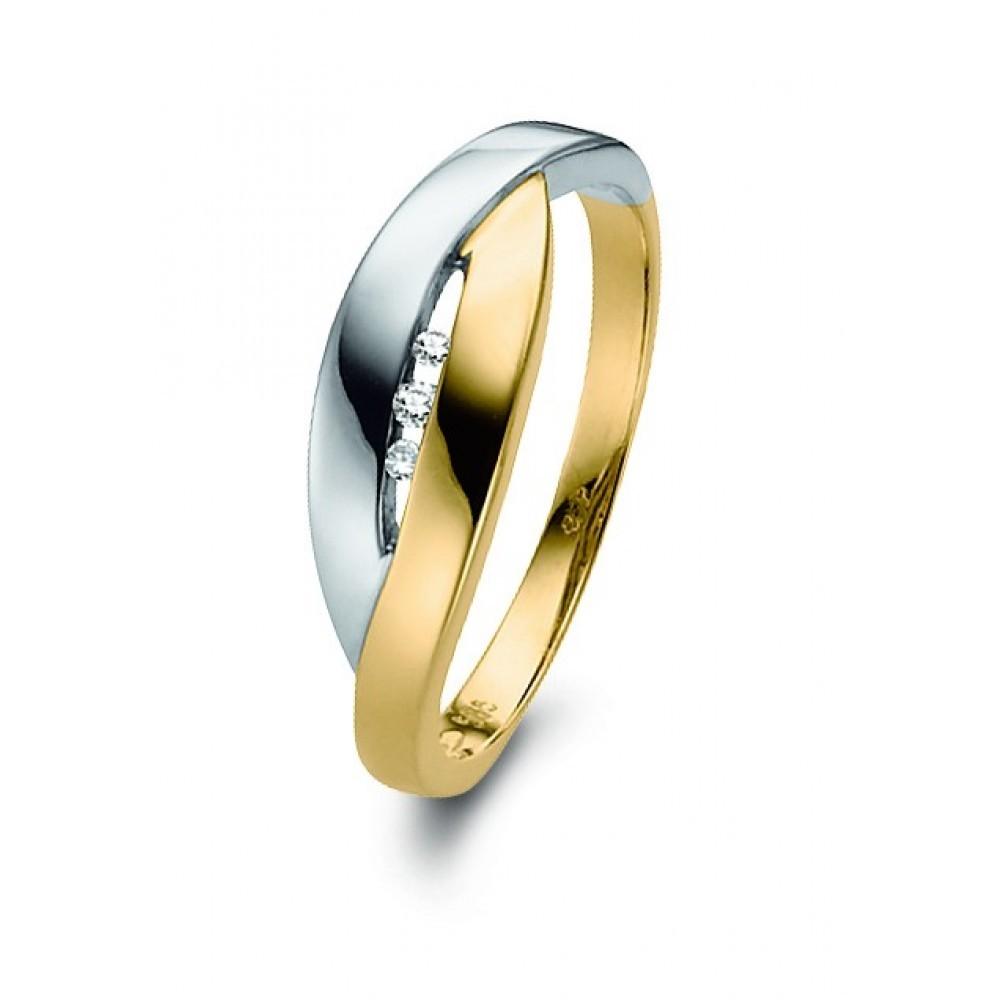 Bicolor ring 0,03crt EU03730RT0003