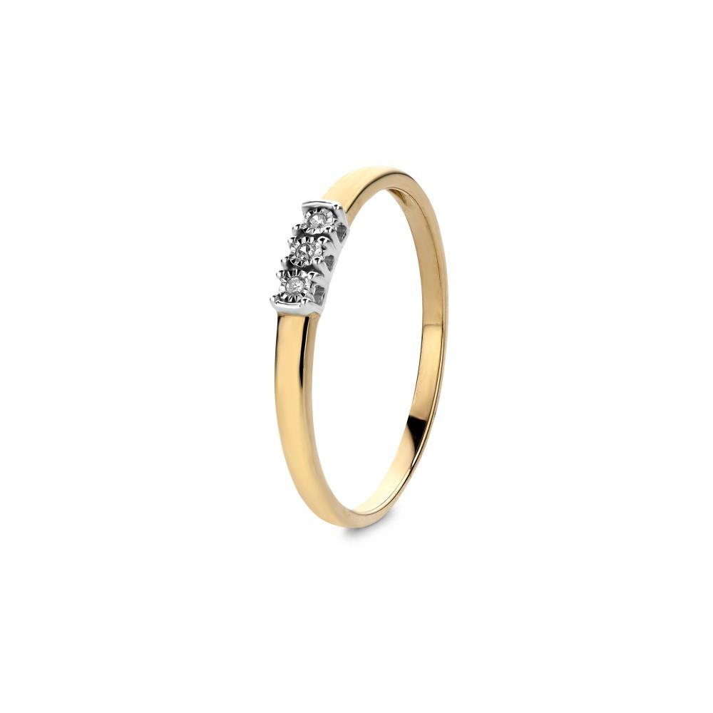 Geelgouden ring 0,02crt EU03740RF0002