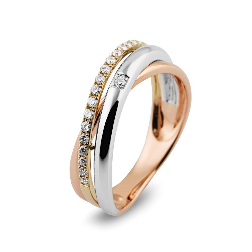Geelgouden ring met diamant 101248AD