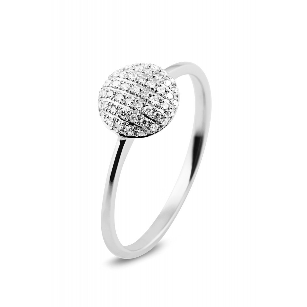 Witgouden ring met diamant 132566AD