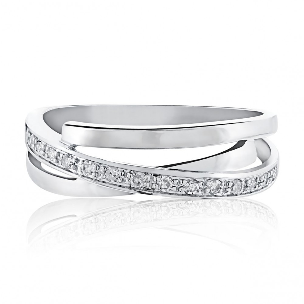Witgouden ring met diamant 1636AD