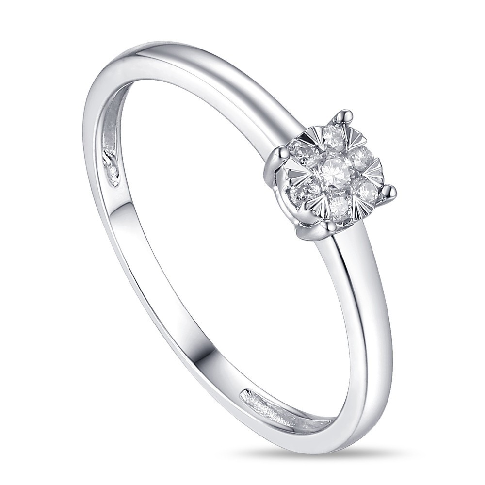 Witgouden damesring met diamant 1851554AXD