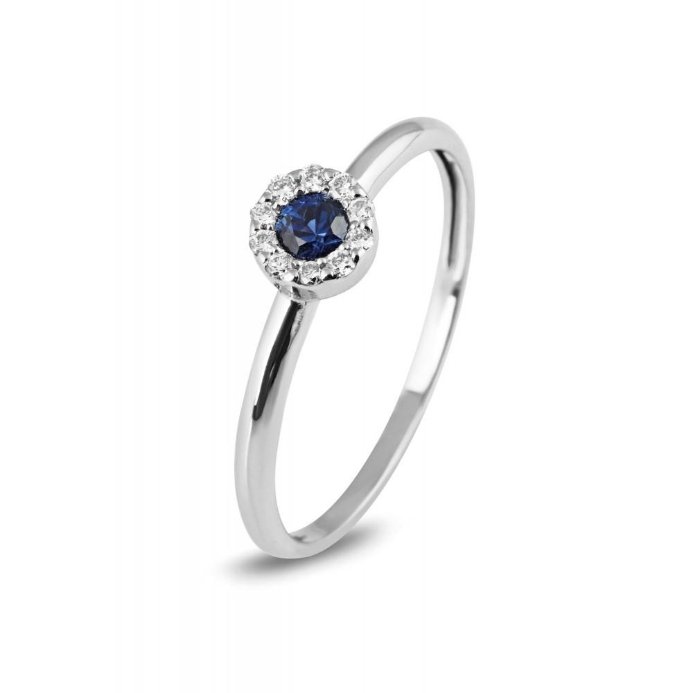 Ring met saffier en diamant R01-79RX82016