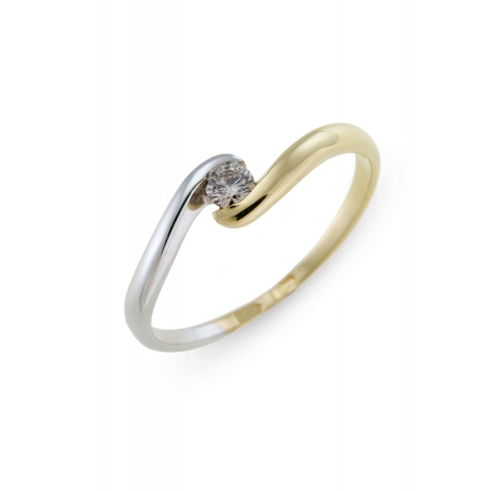 Bicolor ring met diamant SOL-M159-010-G2