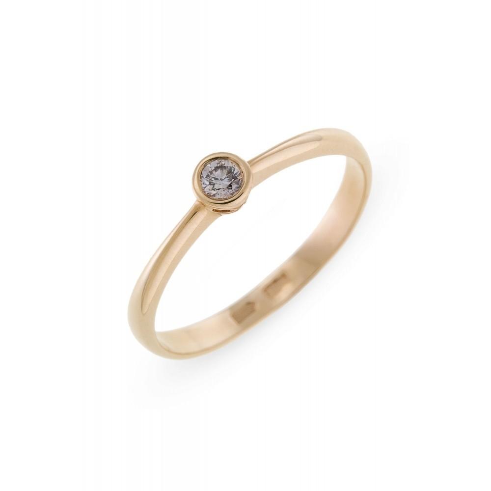 Geelgouden ring met diamant SOL-Y171-010-G2