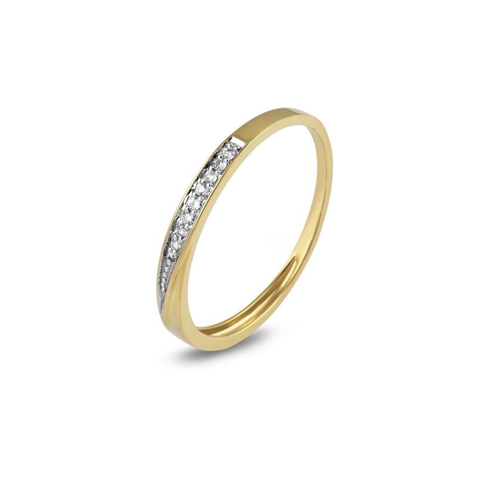 Geelgouden ring met diamant RG29646