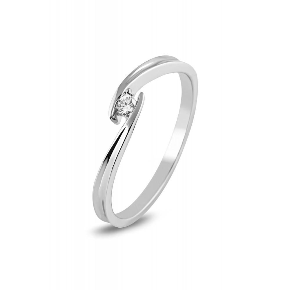 Witgouden diamant ring SOL-W818-005-G2