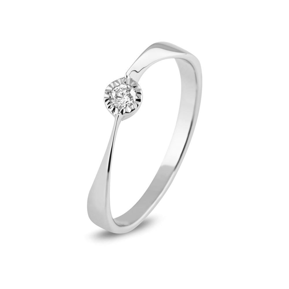 Wigouden ring met diamant SOL-W906-010-G2