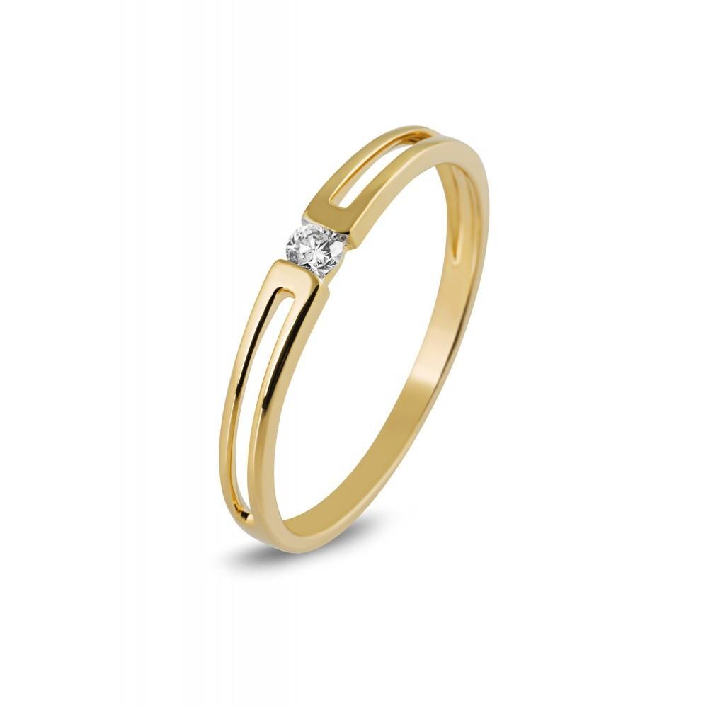 Geelgouden diamant ring SOL-Y444-010-G2