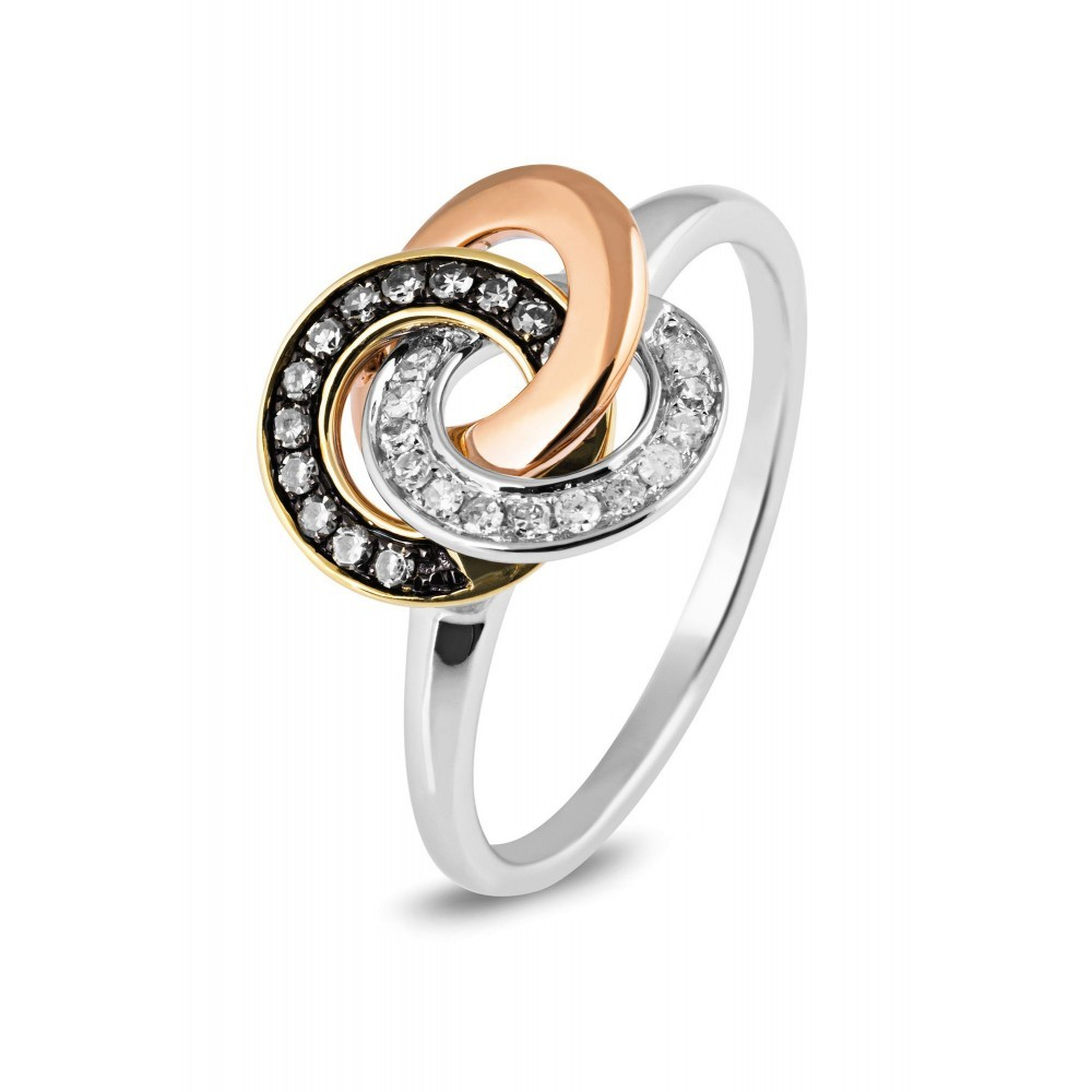 Bicolor ring 0,28crt R49298A0S