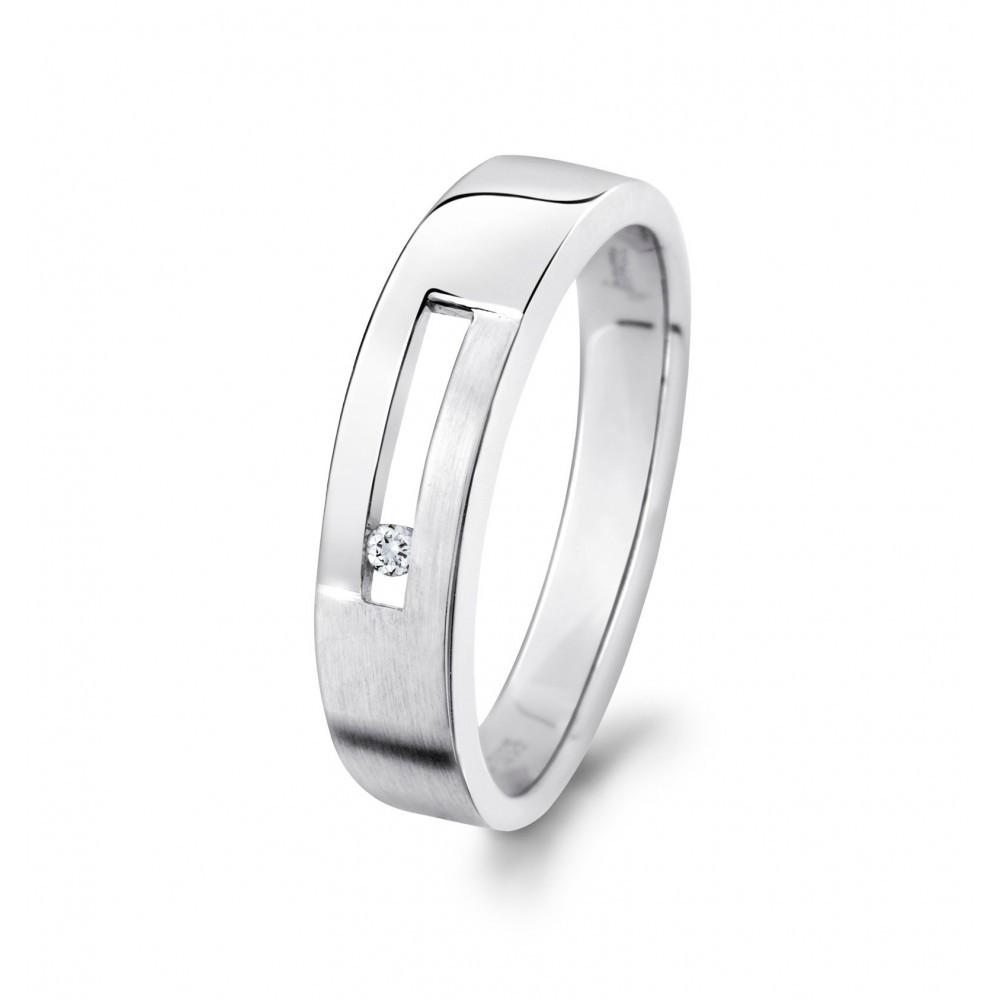 Witgouden ring 0,02crt 777008002