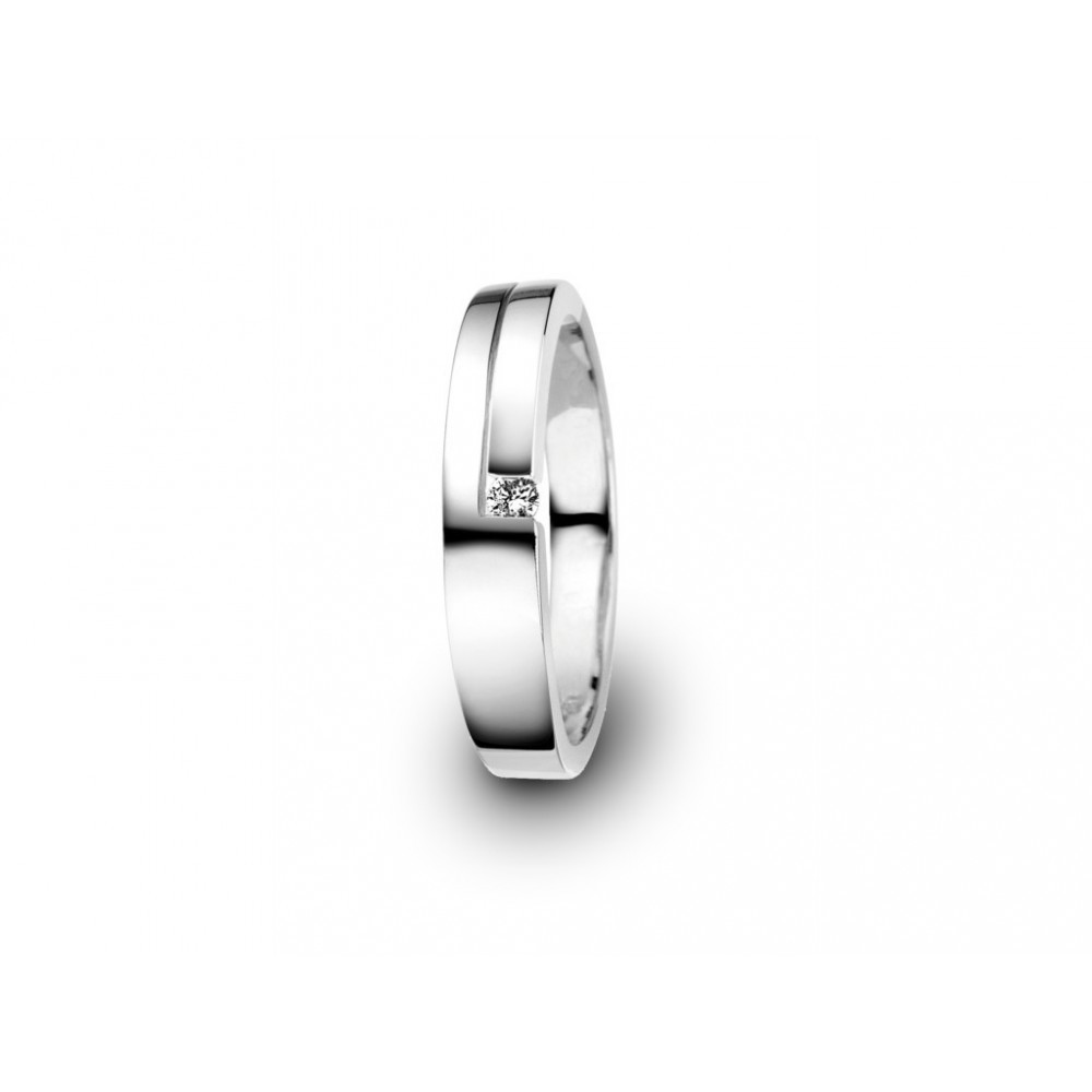 Witgouden ring 0,05crt SOL-W006-005-G2