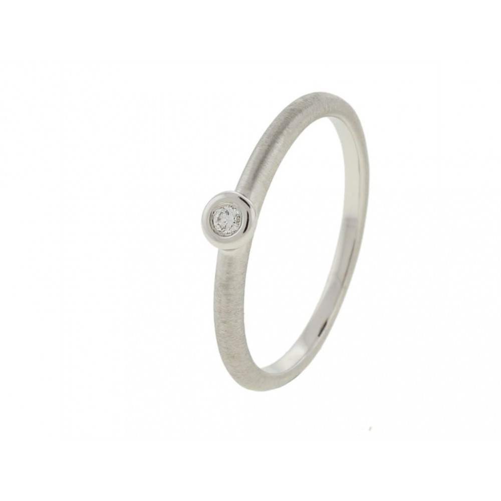 Witgouden ring 0,04crt SOL-W129-005-G2