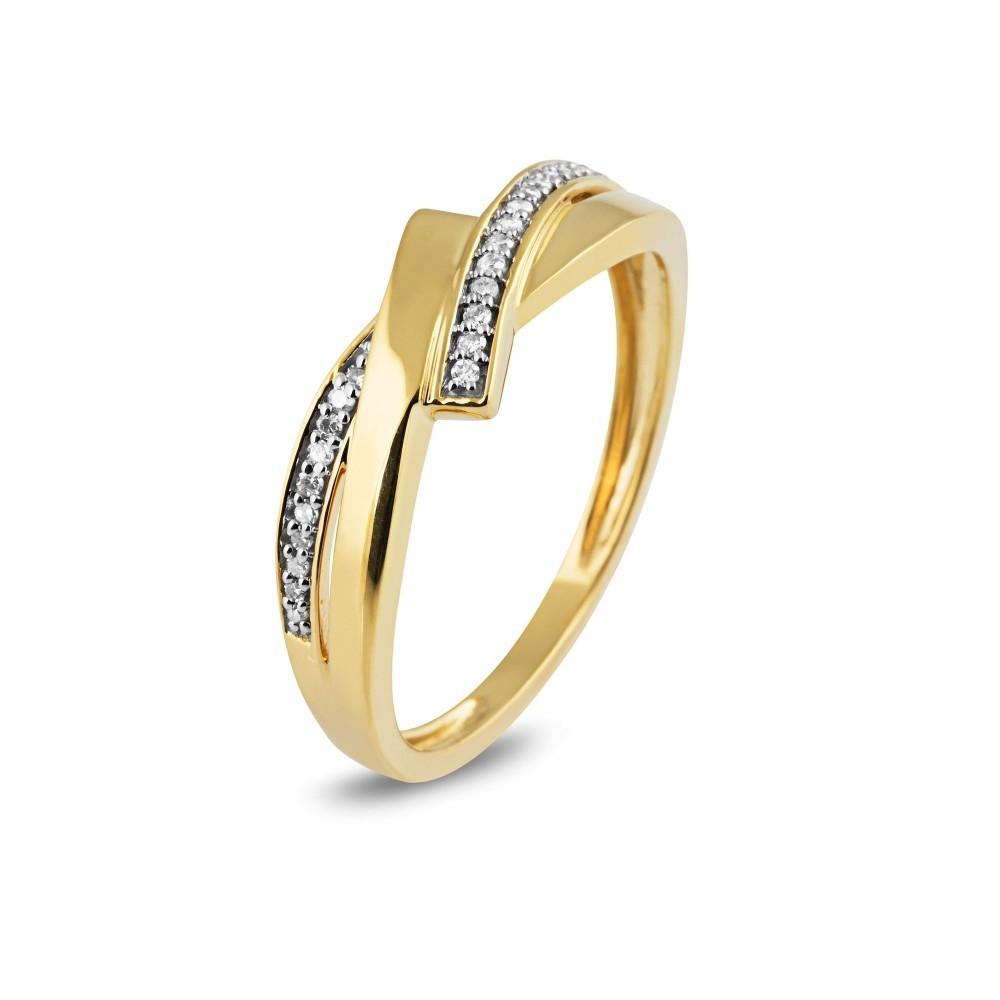 Geelgouden ring met diamant RF7073