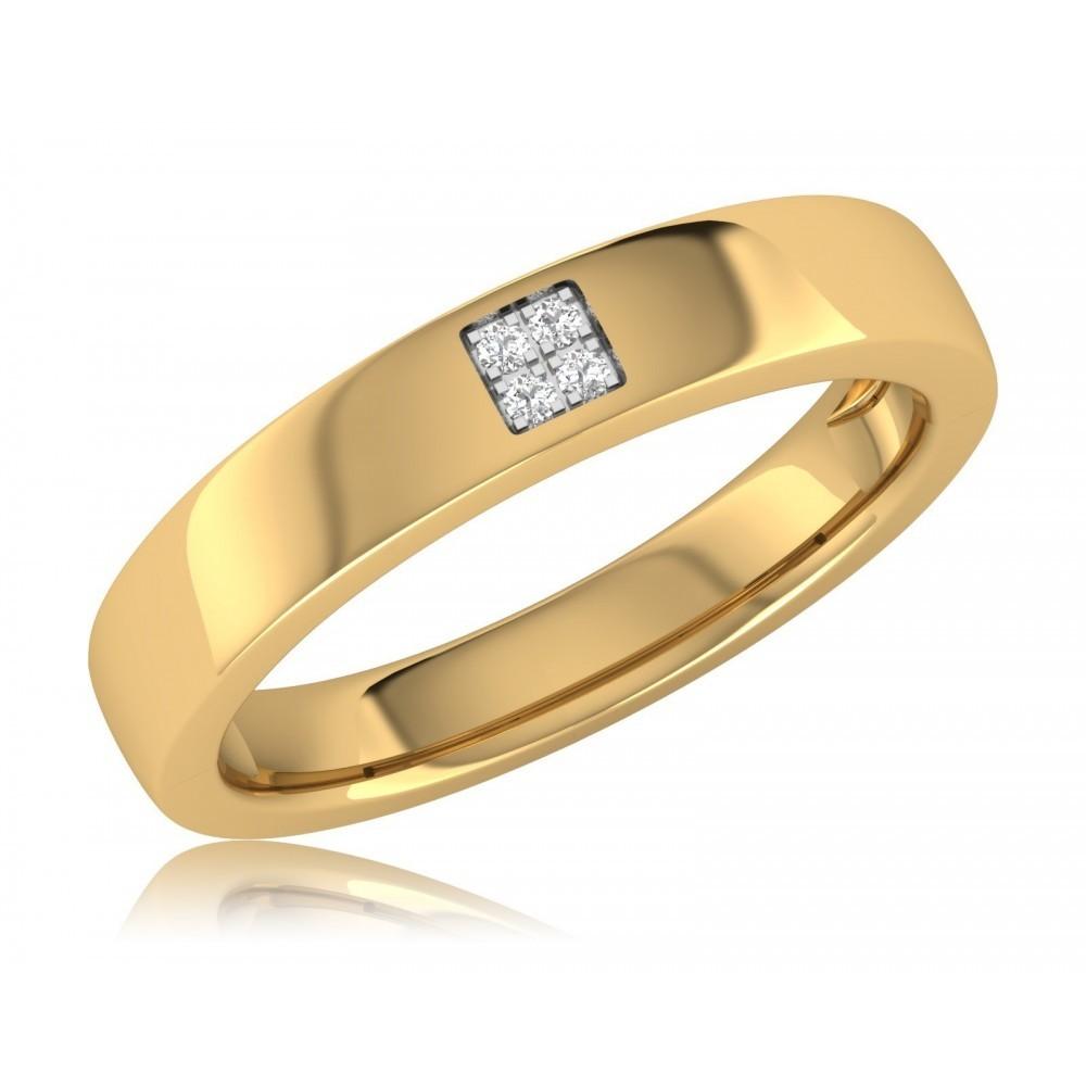 Geelgouden ring met diamant JR1618