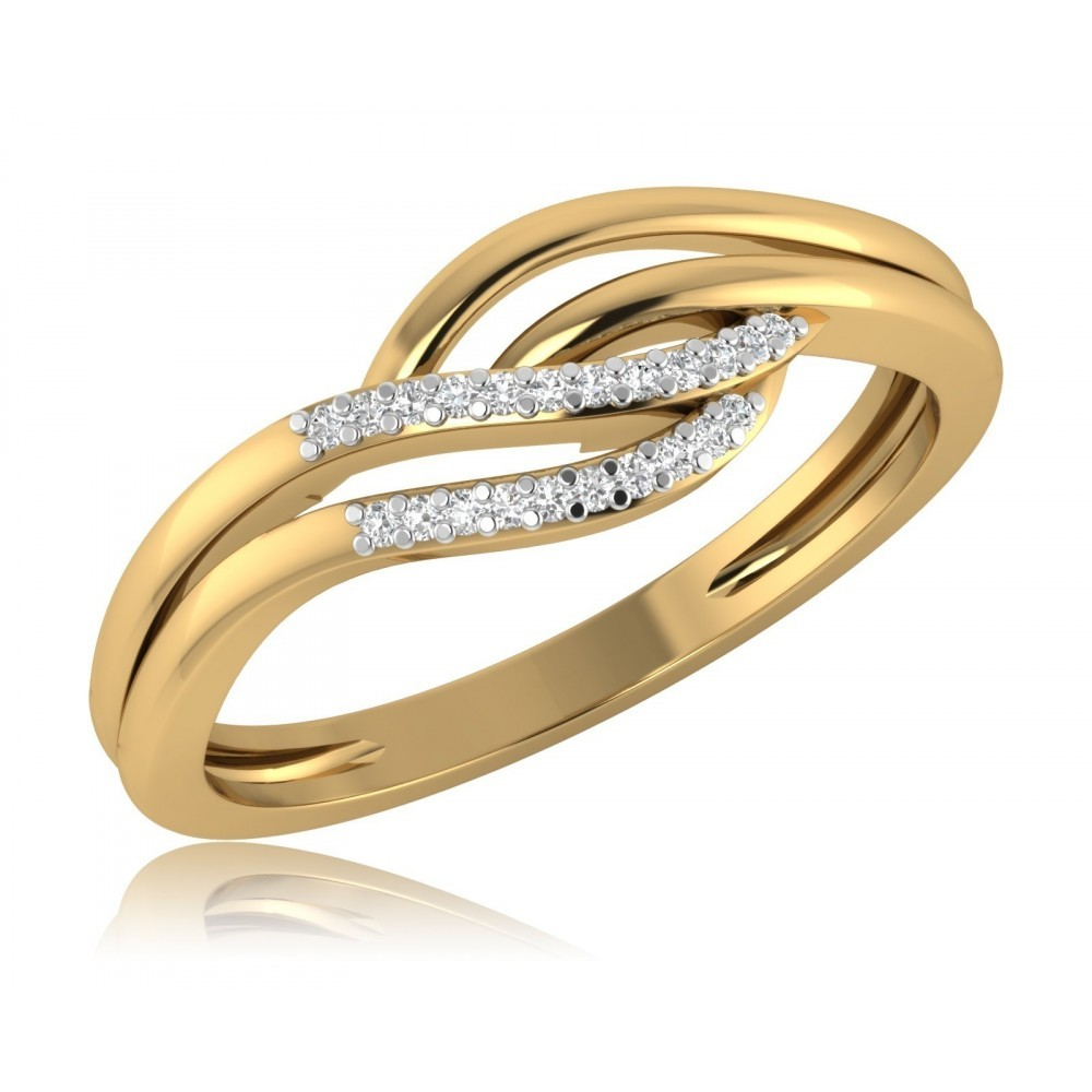 Geelgouden ring met diamant SKR135