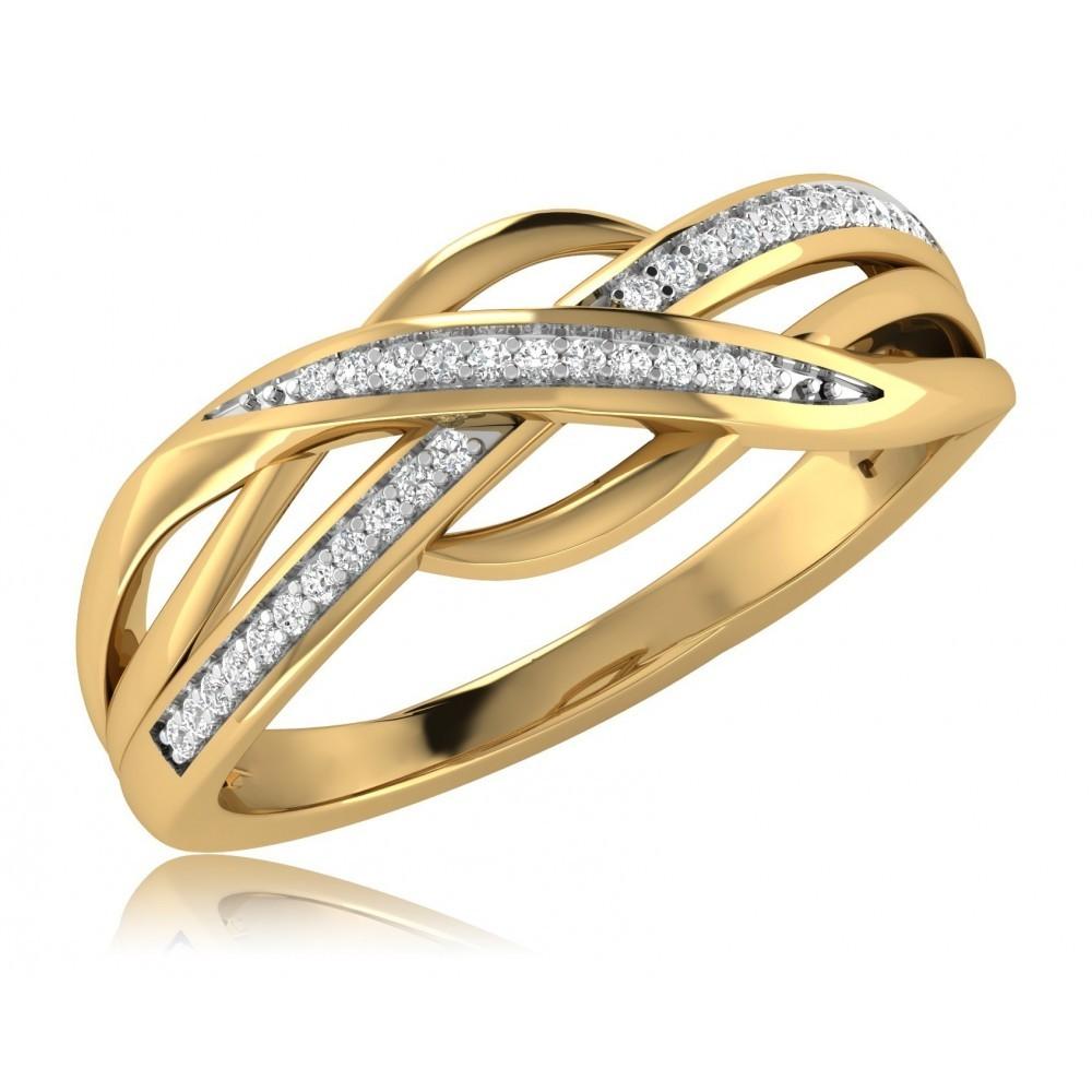 Geelgouden ring met diamant SKR34