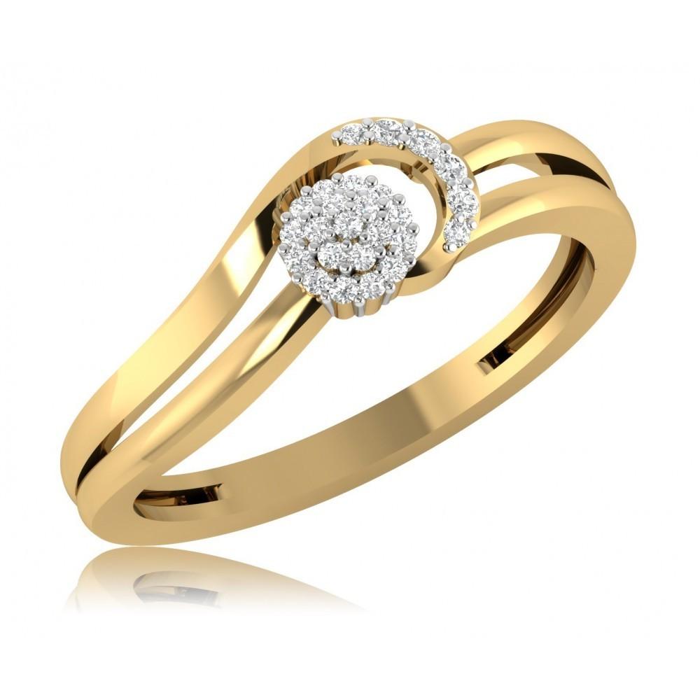 Geelgouden ring met diamant SVR106