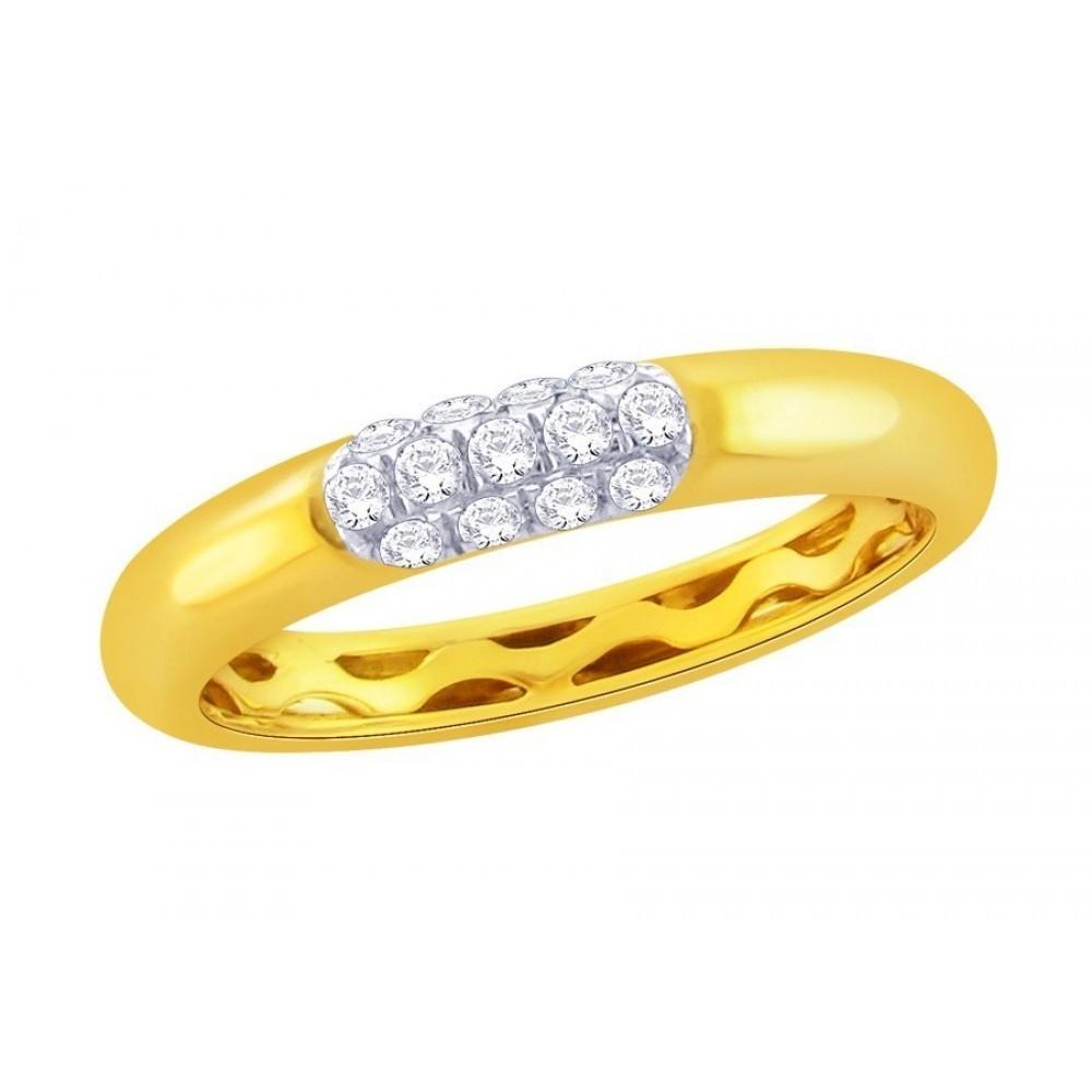 Geelgouden ring met diamant CR5737