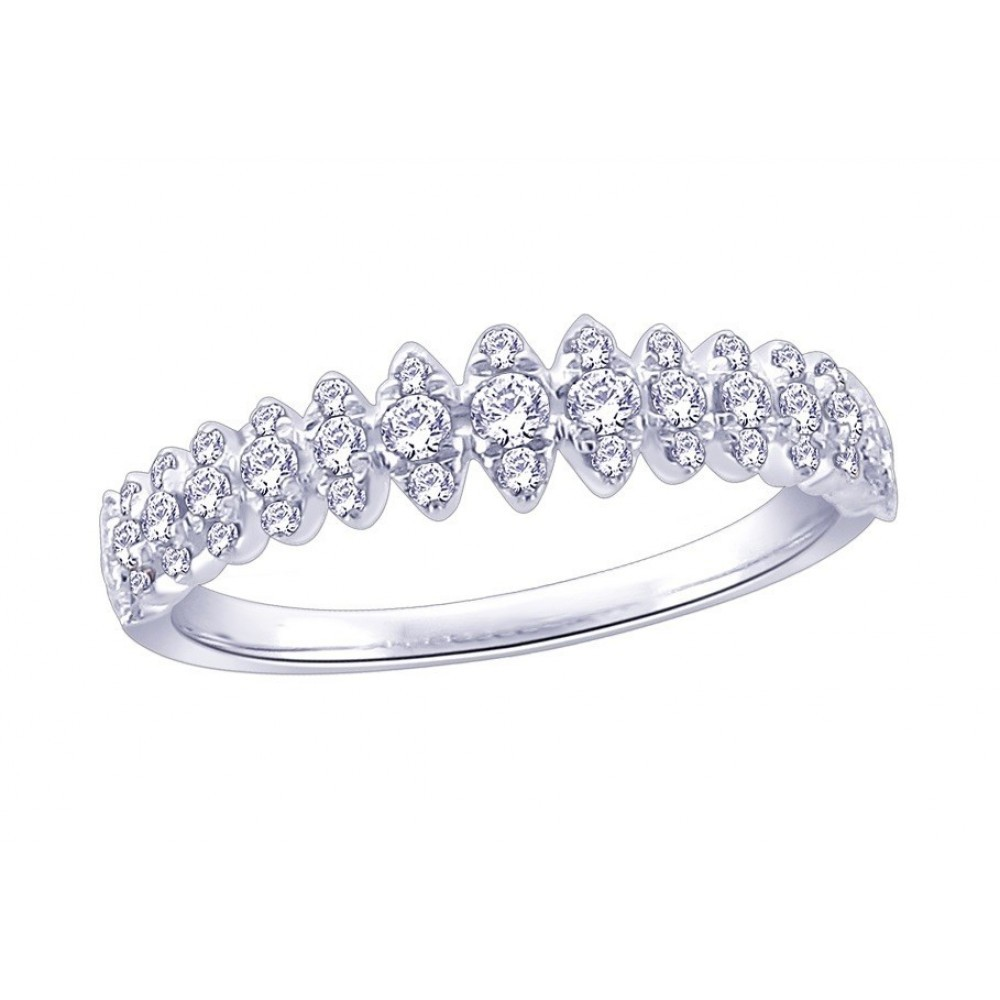 Witgouden ring met diamant CR6268