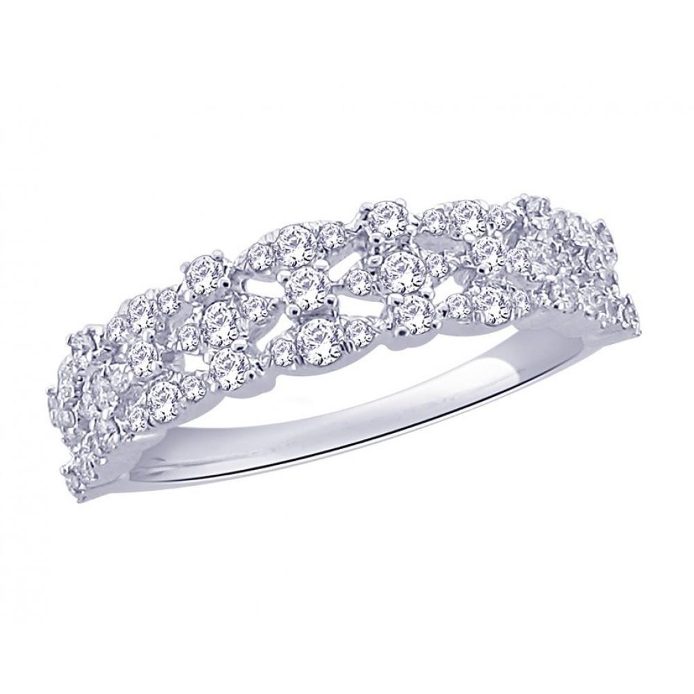 Witgouden ring met diamant CR6336