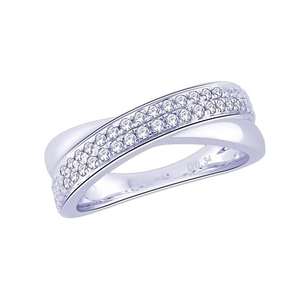 Witgouden ring met diamant CR6577
