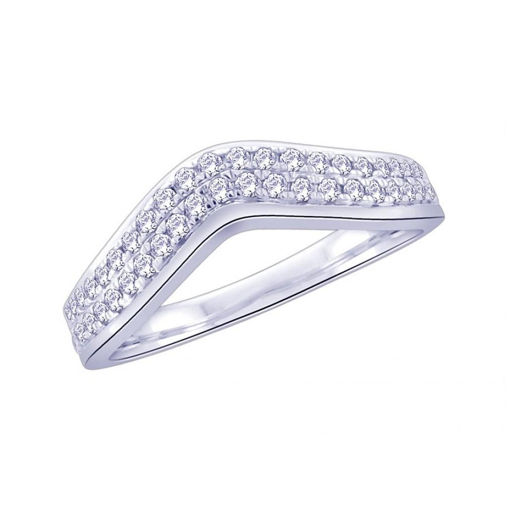 Witgouden ring met diamant CR6578