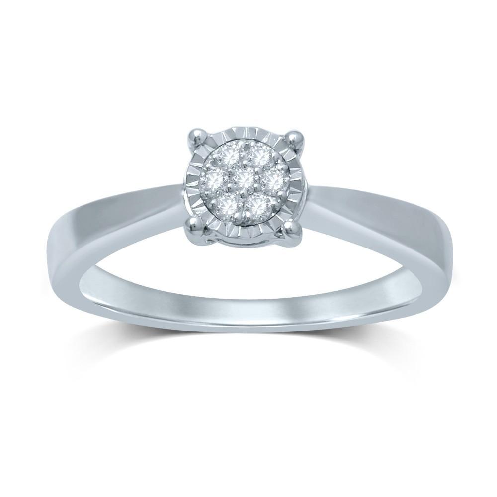 Witgouden ring met diamant CQMOD178342-G