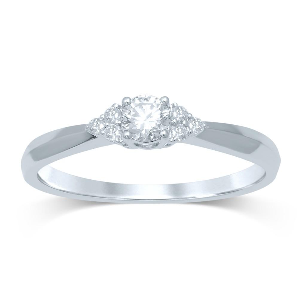 Witgouden damesring met diamant FROQ4611G