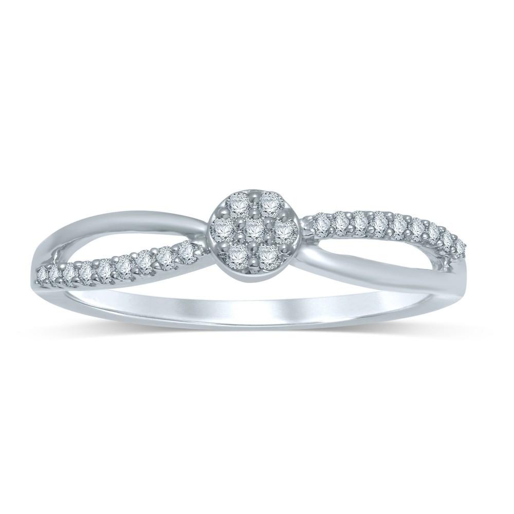 Witgouden damesring met diamant FROT5832G