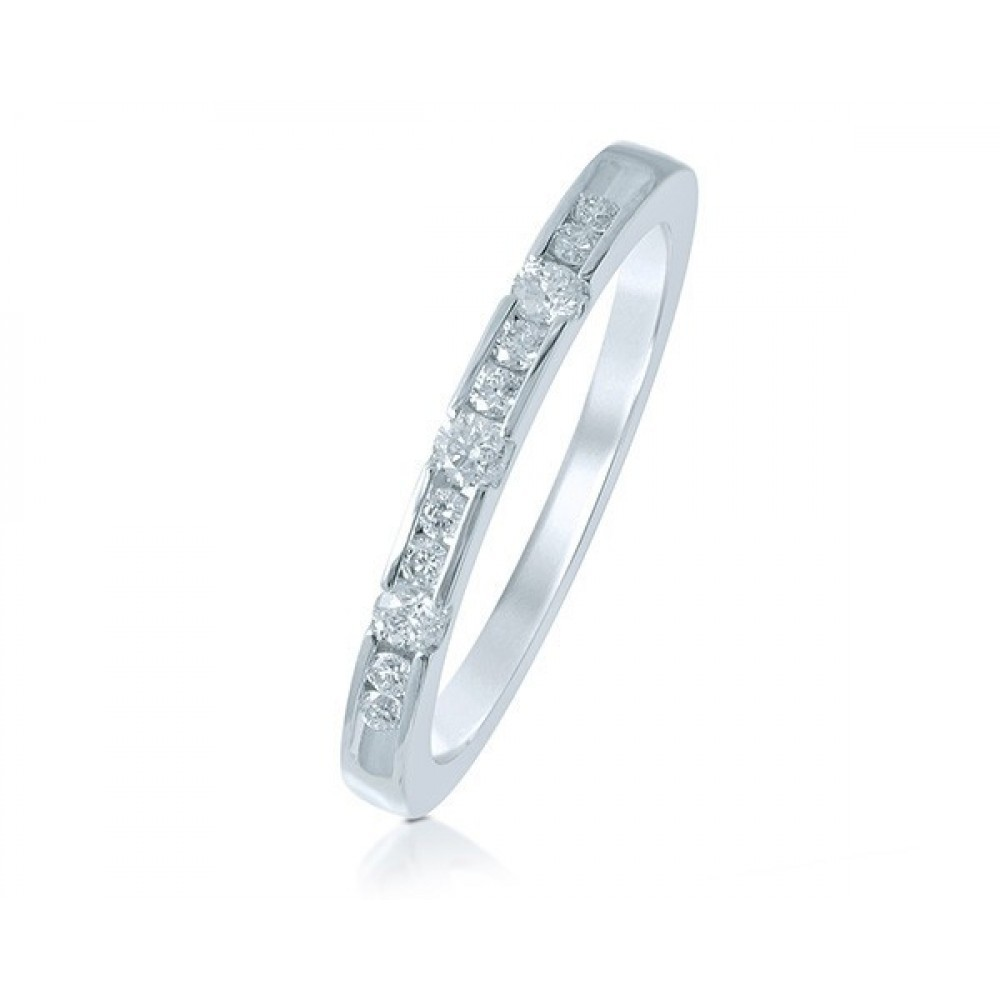 Witgouden damesring met diamant GSMOD188626G