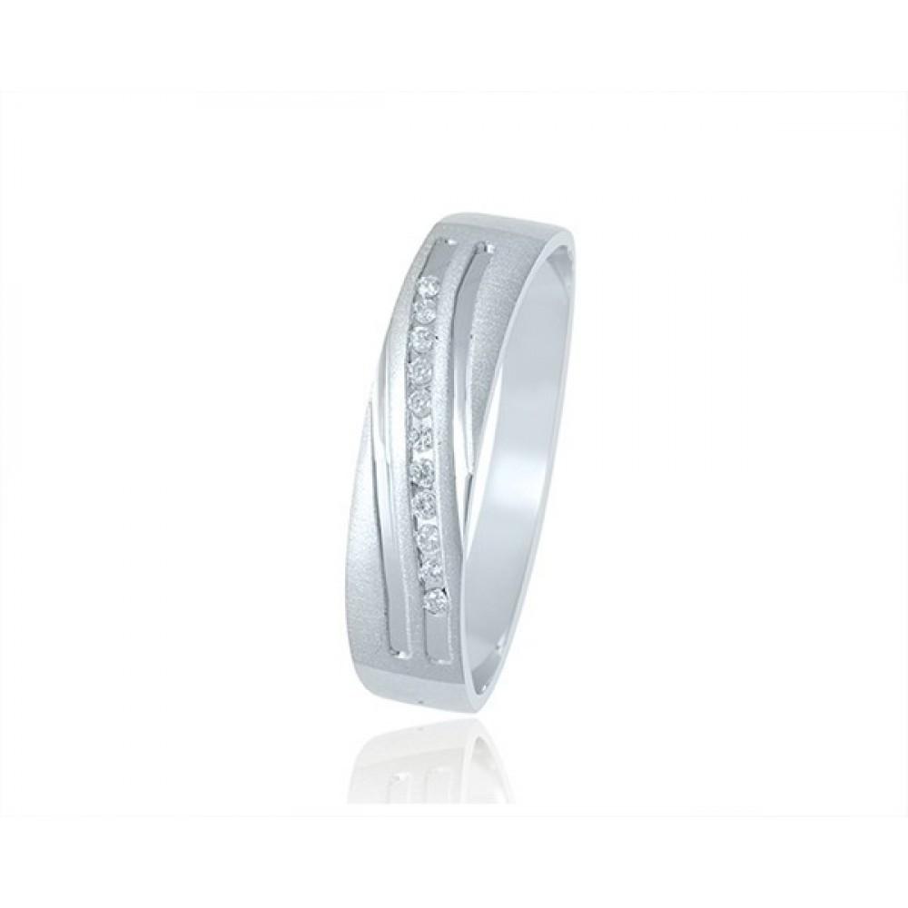 Geelgouden damesring met diamant XWOX2424G