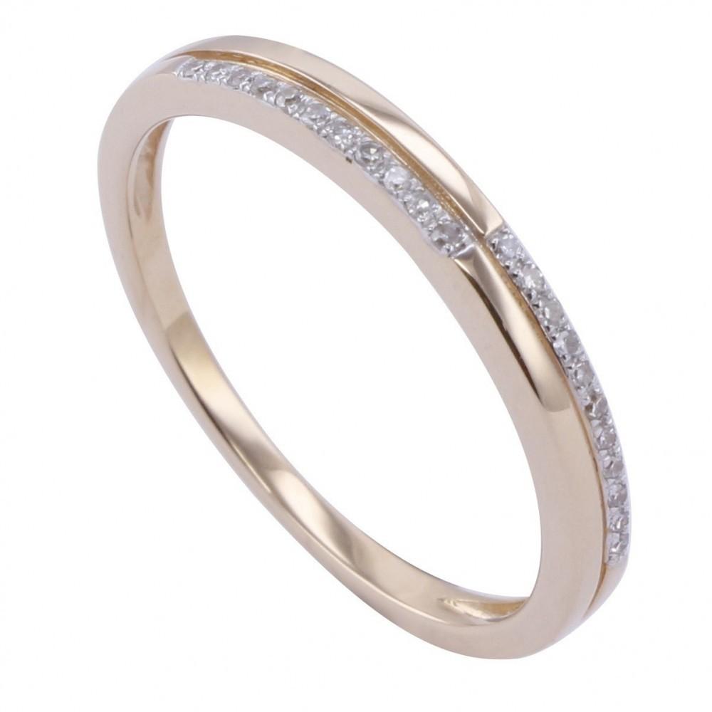 Geelgouden ring met diamant A010006-DDBR-MS