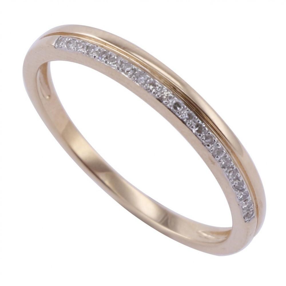 Geelgouden ring met diamant A010008-DDBR-MS