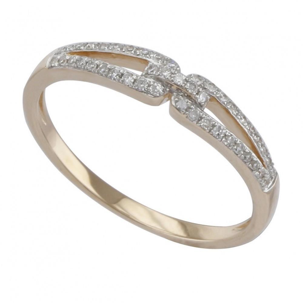 Geelgouden ring met diamant A010055-DDBR-MS