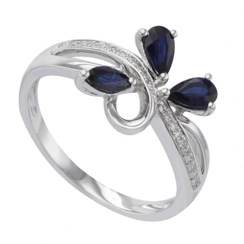 Witgouden ring met diamant A020104-DSBR-MS