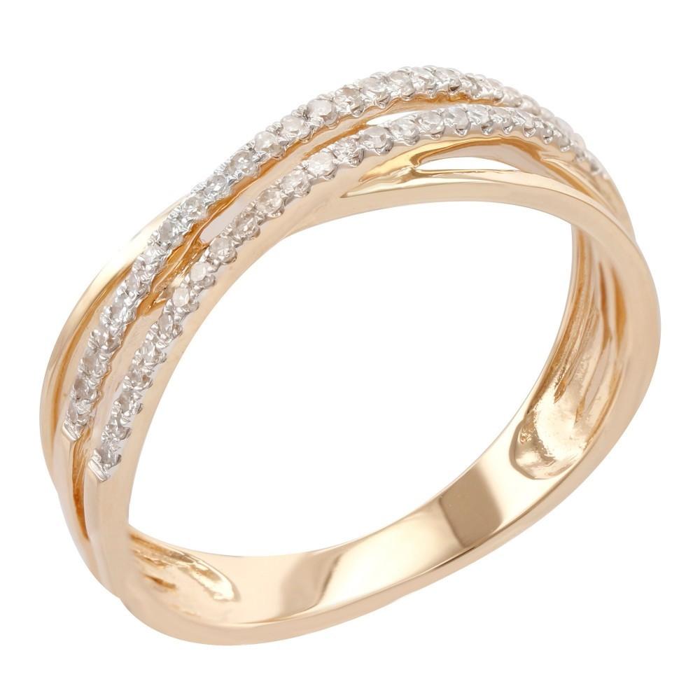 Geelgouden ring met diamant B010437-DDBR-MS